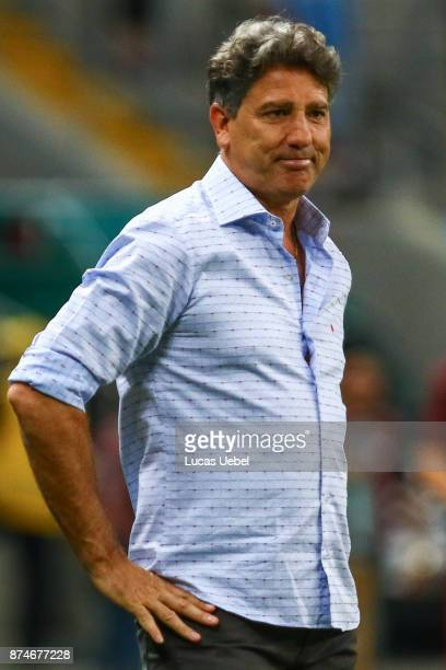 Renato Gaucho coach of Gremio during the match between Gremio and Sao Paulo as part of the Brasileirao Series A 2017 at Arena do Gremio on November...