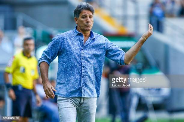 Renato Gaucho coach of Gremio during the match Gremio v Flamengo as part of Brasileirao Series A 2017 at Arena do Gremio on November 05 in Porto...