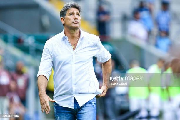 Renato Gaucho coach of Gremio during the match Gremio v Fluminense as part of Brasileirao Series A 2017 at Arena do Gremio on October 01 in Porto...