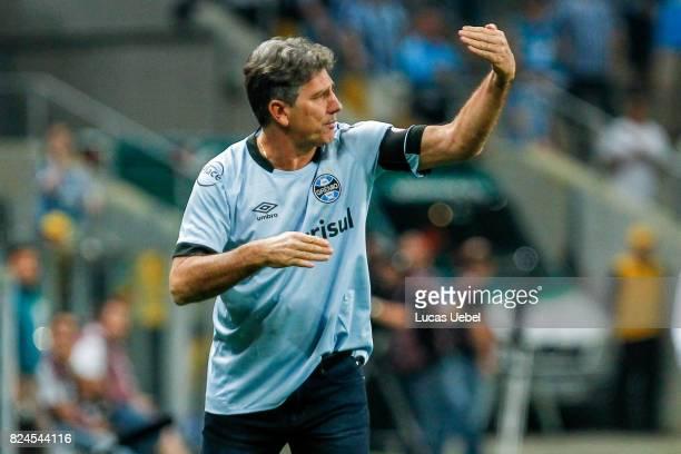 Renato Gaucho coach of Gremio during the match Gremio v Santos as part of Brasileirao Series A 2017 at Arena do Gremio on July 30 in Porto Alegre...
