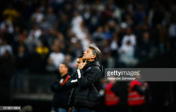 Renato Gaucho head coach of Gremio in action during the match against Corinthians for the Brasileirao Series A 2018 at Arena Corinthians Stadium on...