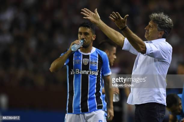 Renato Gaucho of Gremio reacts during the second leg match between Lanus and Gremio as part of Copa Bridgestone Libertadores 2017 Final at Ciudad de...