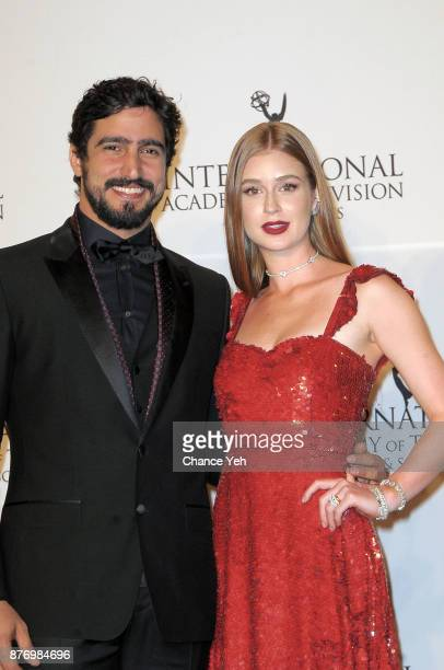 Renato Goes and Marina Ruy Barbosa attend 45th International Emmy Awards at New York Hilton on November 20 2017 in New York City