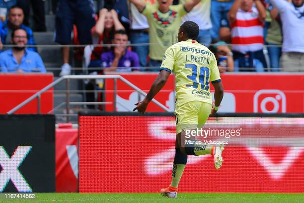 Renato Ibarra Mina of America celebrates after scoring the first goal of his team during the 4th round match between Toluca and America as part of...