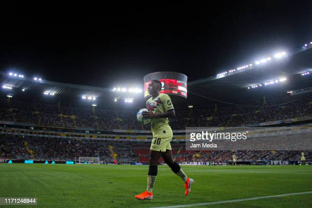 Renato Ibarra of America walks through the field during the 8th round match between Atlas and America as part of the Torneo Apertura 2019 Liga MX at...