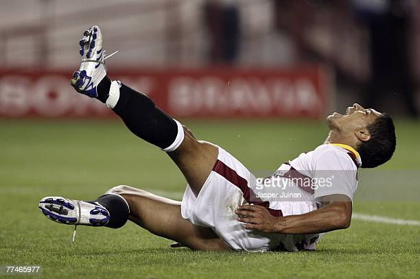 Renato of Sevilla reacts after failing to score during the UEFA Champions League Group H match between Sevilla and Steaua Bucharest at the Ramon...