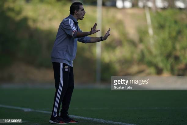 Renato Paiva of SL Benfica B in action during the Liga Pro match between SL Benfica B and UD Vilafranquense at Benfica Campus on February 2 2020 in...