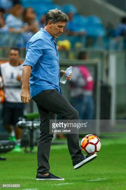 Renato Portalupp coach of Gremio during the match between Gremio and Monagas part of Copa Libertadores 2018 at Arena do Gremio on April 04 in Porto...