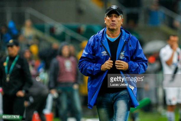 Renato Portaluppi coach of Gremio during the match Gremio v Vasco as part of Brasileirao Series A 2017 at Arena do Gremio on June 04 in Porto Alegre...