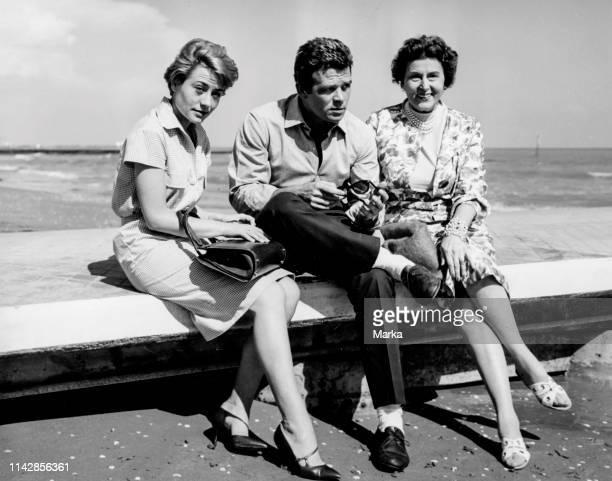 Renato Salvatori. Katina Paxinou. Annie Girardot. Venice. 1960.