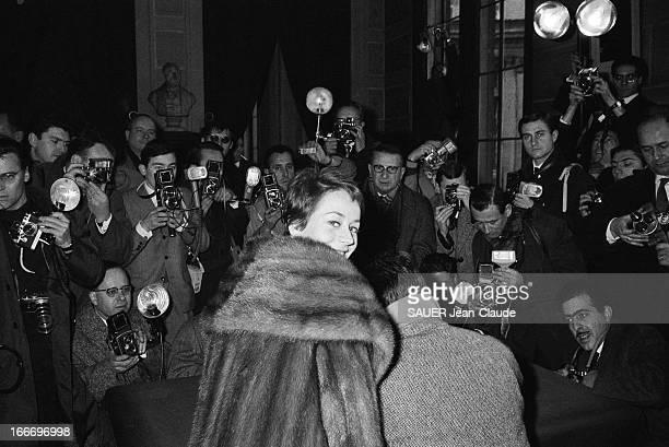 Renato Salvatori Marries Annie Girardot Le mariage de Renato SALVATORI et Annie GIRARDOT à la mairie du XVIème arrondissement de Paris les jeunes...