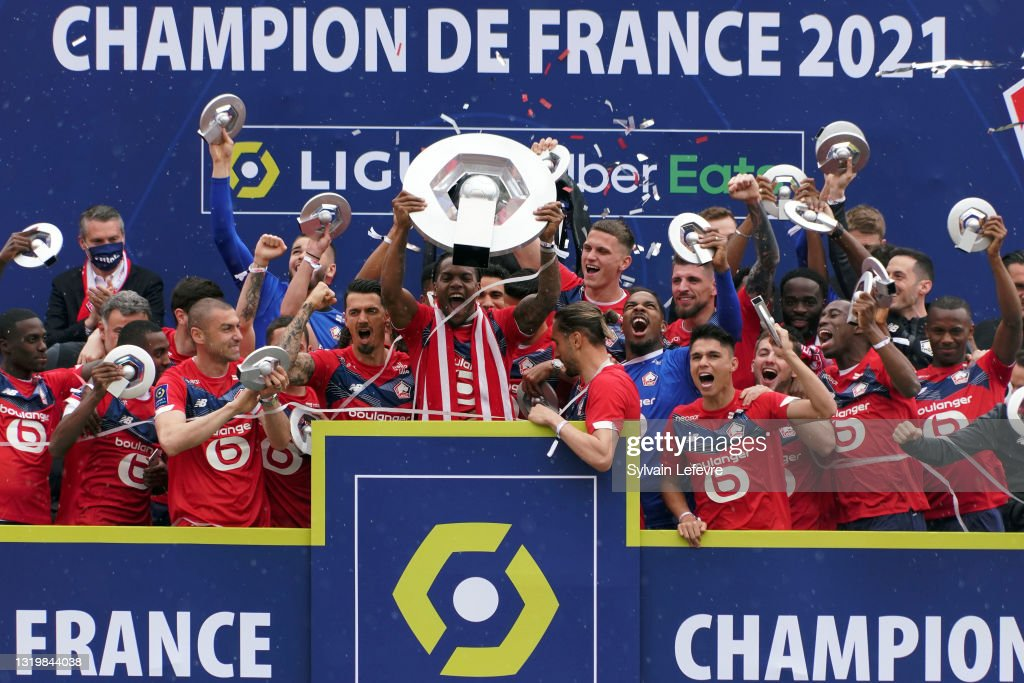 Lille OSC And Fans Celebrate After Winning The Ligue 1 Title : News Photo