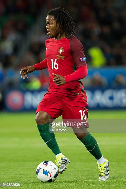 Renato Sanches during the UEFA EURO 2016 Group F match between Portugal and Iceland at Stade GeoffroyGuichard on June 14 2016 in SaintEtienne France