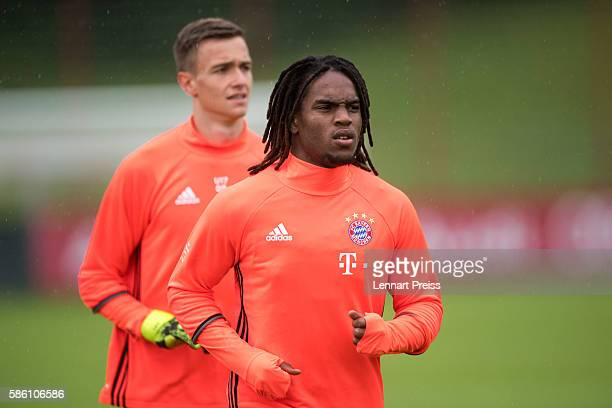 Renato Sanches in action during a training session of FC Bayern Muenchen on August 5 2016 in Munich Germany
