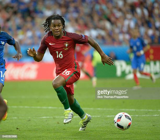 Renato Sanches in action for Portugal during the UEFA EURO 2016 Final match between Portugal and France at Stade de France on July 10 2016 in Paris...