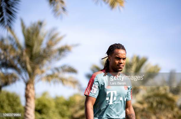 Renato Sanches is seen prior to a training session at day three of the Bayern Muenchen training camp at Aspire Academy on January 05 2019 in Doha...