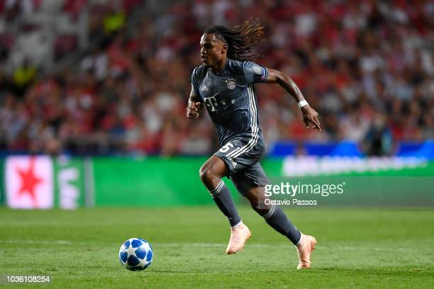 Renato Sanches of Bayern Muenchen in action during the Group E match of the UEFA Champions League between SL Benfica and FC Bayern Muenchen at...