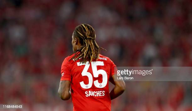 Renato Sanches of Bayern Muenchen is seen during the Bundesliga match between FC Bayern Muenchen and Hertha BSC at Allianz Arena on August 16 2019 in...