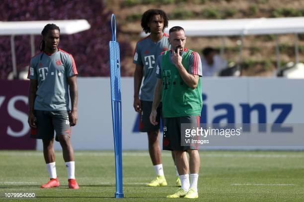 Renato Sanches of Bayern Munchen Joshua Zirkzee of Bayern Munchen Franck Ribery of Bayern Munchen during the training camp of Bayern Munchen at the...