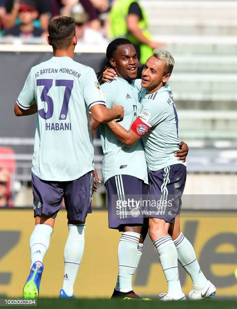 Renato Sanches of Bayern Munich celebrates after scoring his sides second goal during the International Champions Cup 2018 match between Bayern...