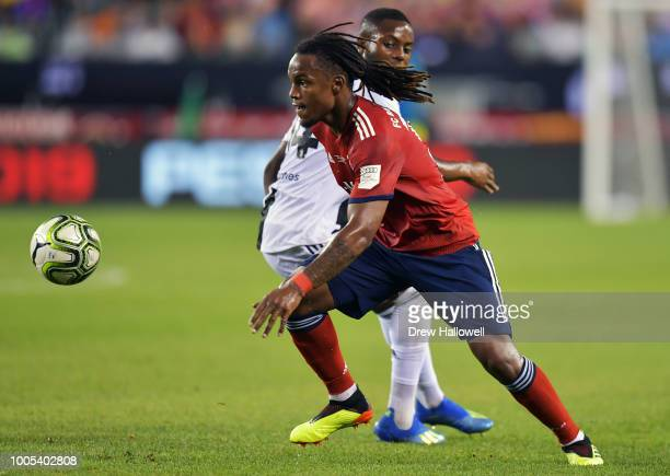 Renato Sanches of Bayern Munich plays the ball during the game against the Juventus during the International Champions Cup 2018 match between...