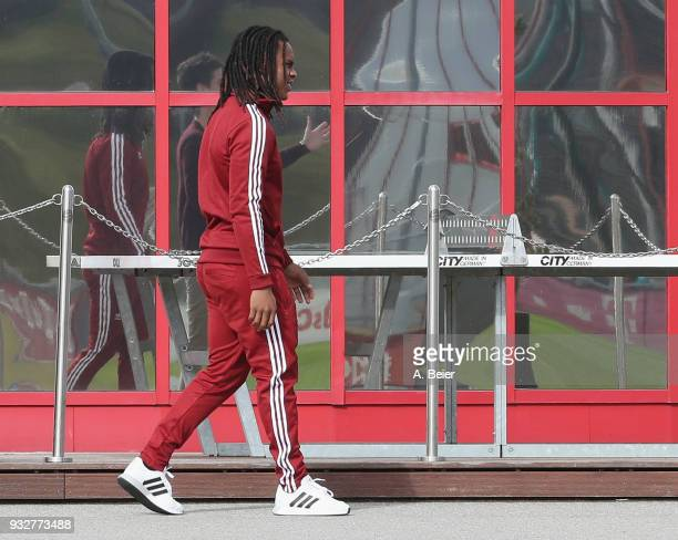 Renato Sanches of FC Bayern Muenchen and lent to English premier league club Swansea City is pictured at the FC Bayern Muenchen Saebener Strasse...