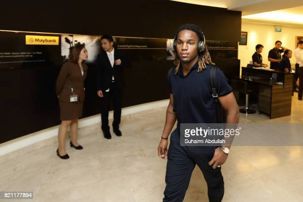 Renato Sanches of FC Bayern Muenchen arrives at Jet Quay Private Terminal ahead of the International Champions Cup on July 23 2017 in Singapore