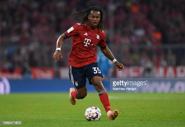 Renato Sanches of FC Bayern Muenchen controls the ball during the Bundesliga match between FC Bayern Muenchen and Borussia Moenchengladbach at...