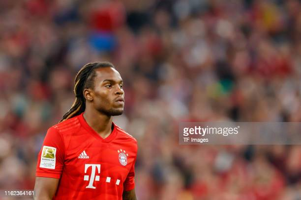 Renato Sanches of FC Bayern Muenchen looks on during the Bundesliga match between FC Bayern Muenchen and Hertha BSC at Allianz Arena on August 16...