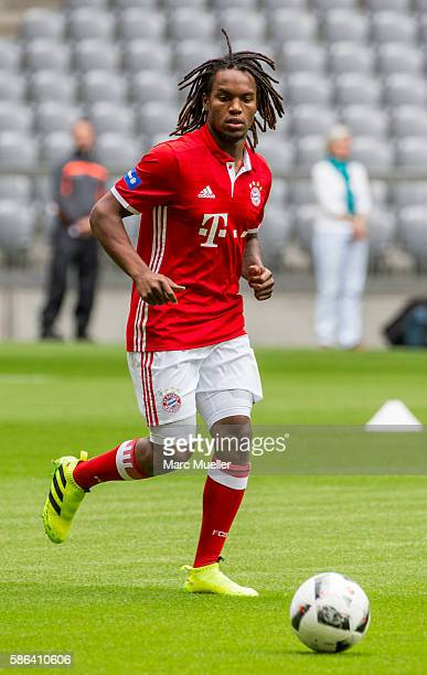 Renato Sanches of FC Bayern Munich with ball during a training session starts at Allianz Arena on August 6 2016 in Munich Germany