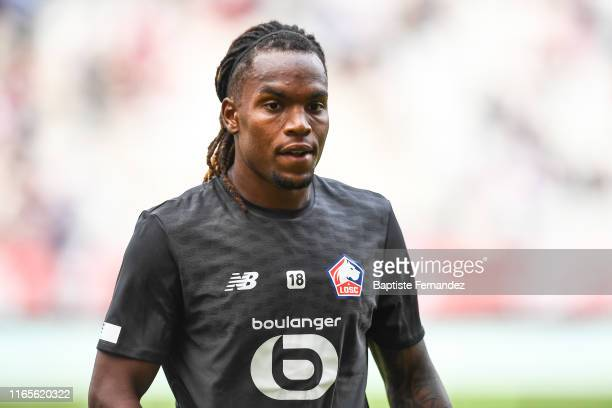 Renato Sanches of Lille before the French Ligue 1 football match between Stade de Reims and LOSC Lille on September 1, 2019 in Reims, France.