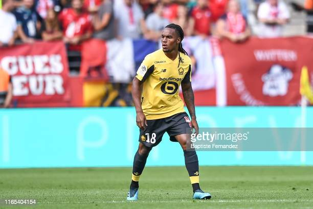 Renato Sanches of Lille during match between Stade de Reims and LOSC Lille on September 1, 2019 in Reims, France.