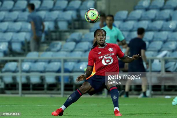 Renato Sanches of Lille OSC in action during the pre-season friendly football match between FC Porto and Lille OSC at the Algarve stadium in Loule,...