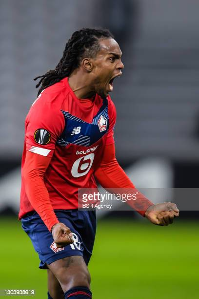 Renato Sanches of LOSC Lille during the UEFA Europa League match between Lille OSC and Ajax at Stade Pierre Mauroy on February 18, 2021 in Lille,...