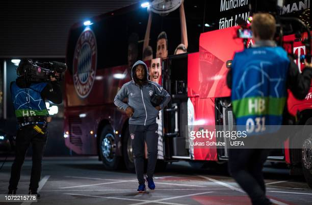 Renato Sanches of Munich arrives prior to the UEFA Champions League Group E match between Ajax Amsterdam and FC Bayern Muenchen at Johan Cruyff Arena...