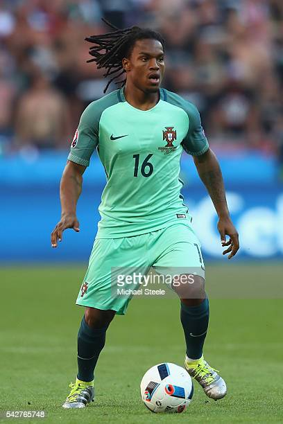 Renato Sanches of Portugal during the UEFA EURO 2016 Group F match between Hungary and Portugal at Stade des Lumieres on June 22 2016 in Lyon France