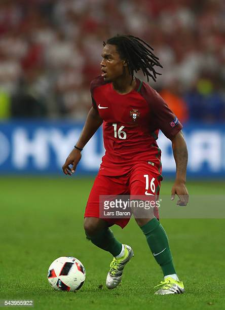 Renato Sanches of Portugal in action during the UEFA EURO 2016 quarter final match between Poland and Portugal at Stade Velodrome on June 30 2016 in...