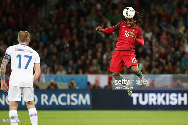 Renato Sanches of Portugal in action during the UEFA EURO 2016 Group F match between Portugal and Iceland at Stade GeoffroyGuichard on June 14 2016...