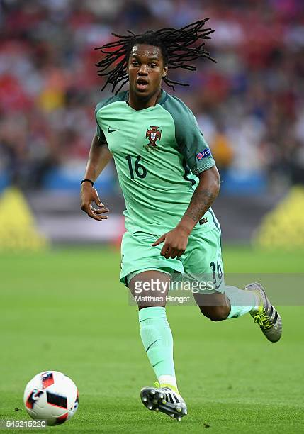 Renato Sanches of Portugal in action during the UEFA EURO 2016 semi final match between Portugal and Wales at Stade des Lumieres on July 6 2016 in...