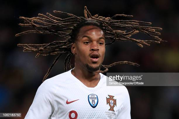Renato Sanches of Portugal lets his hair fly loose during the International Friendly match between Scotland and Portugal at Hampden Park on October...