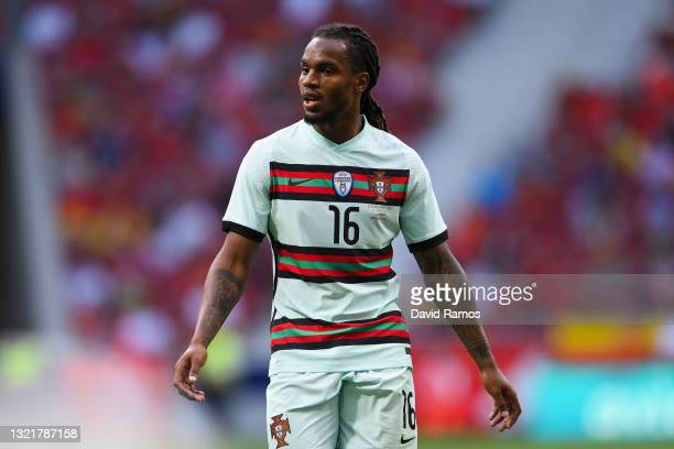 Renato Sanches of Portugal looks on during the international friendly match between Spain and Portugal at Wanda Metropolitano stadium on June 04,...