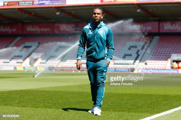 Renato Sanches of Swansea City arrives at Vitality Stadium prior to kick off of the Premier League match between AFC Bournemouth and Swansea City at...