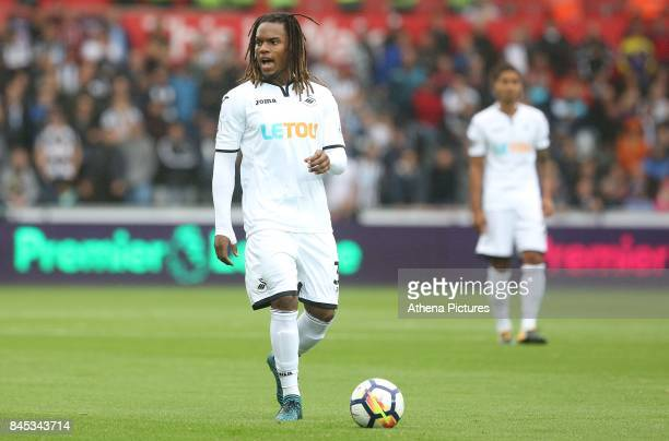Renato Sanches of Swansea City during the Premier League match between Swansea City and Newcastle United at The Liberty Stadium on September 10 2017...
