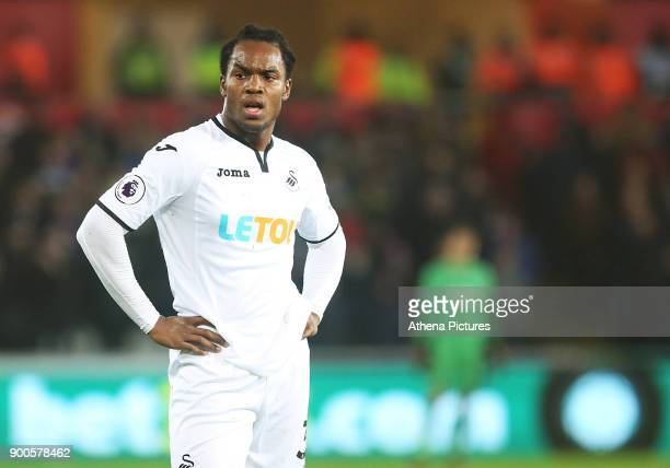 Renato Sanches of Swansea City during the Premier League match between Swansea City and Tottenham Hotspur at the Liberty Stadium on January 02 2018...