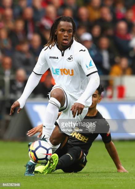 Renato Sanches of Swansea City in action during the Premier League match between Swansea City and Newcastle United at Liberty Stadium on September 10...