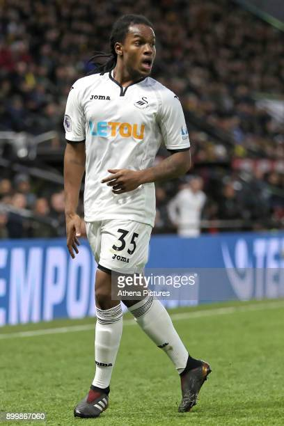 Renato Sanches of Swansea City in action during the Premier League match between Watford and Swansea City at the Vicarage Road on December 30 2017 in...