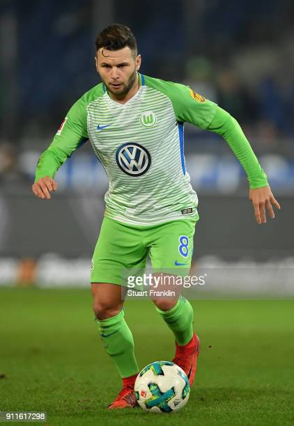 Renato Steffen of Wolfsburg in action during the Bundesliga match between Hannover 96 and VfL Wolfsburg at HDIArena on January 28 2018 in Hanover...