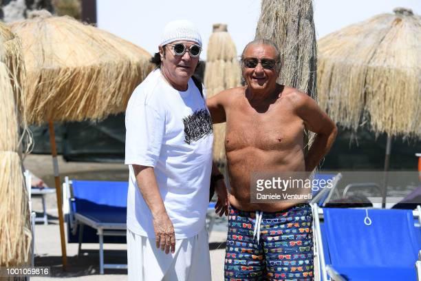 Renato Zero and Tony Renis attend 2018 Ischia Global Film Music Fest on July 18 2018 in Ischia Italy