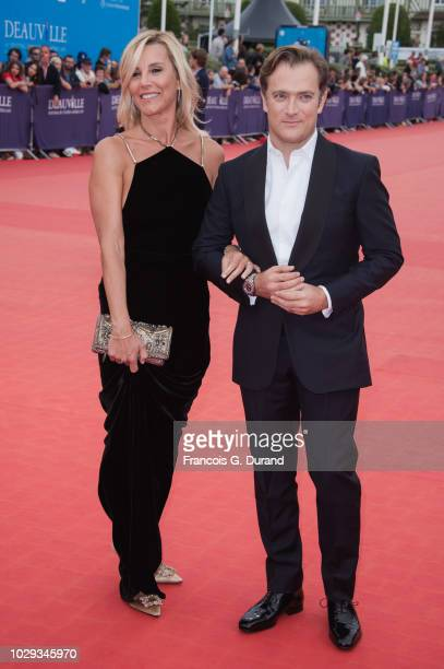 Renaud Capucon and Laurence Ferrari arrive at the award ceremony of the 44th Deauville American Film Festival on September 8 2018 in Deauville France