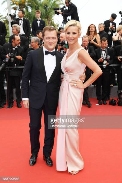 Renaud Capucon and Laurence Ferrari attend Amant Double Red Carpet Arrivals during the 70th annual Cannes Film Festival at Palais des Festivals on...